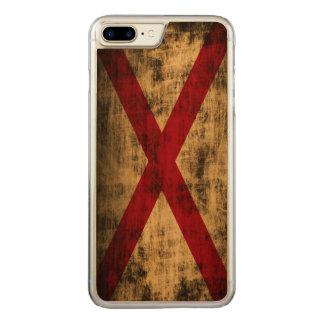 Coque Carved iPhone 8 Plus/7 Plus Drapeau grunge vintage d'état de l'Alabama