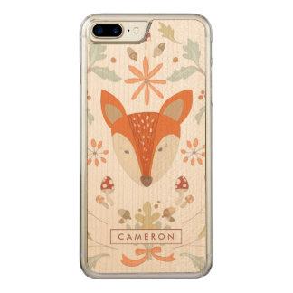 Coque Carved iPhone 8 Plus/7 Plus Fox lunatique de région boisée