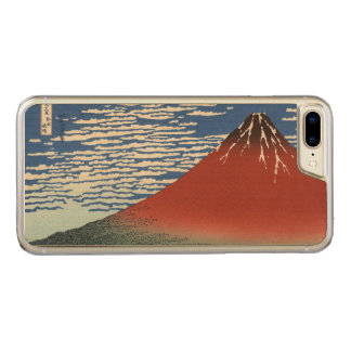 Coque Carved iPhone 8 Plus/7 Plus Fuji rouge, vent du sud, ciel clair Hokusai