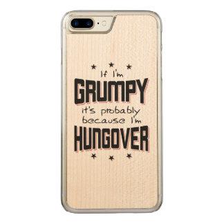 Coque Carved iPhone 8 Plus/7 Plus GRINCHEUX parce que HUNGOVER (noir)