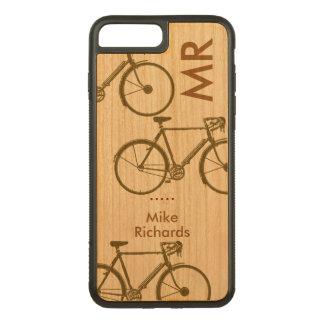 Coque Carved iPhone 8 Plus/7 Plus iPhone personnalisé 6 avec des vélos sur le bois