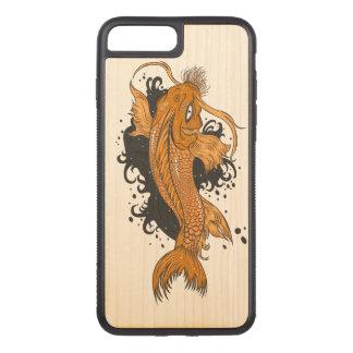 Coque Carved iPhone 8 Plus/7 Plus Japonais coloré Koi