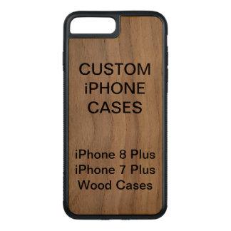 Coque Carved iPhone 8 Plus/7 Plus La coutume a personnalisé l'iPhone en bois 8 plus