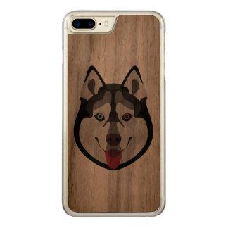 Coque Carved iPhone 8 Plus/7 Plus L'illustration poursuit le chien de traîneau