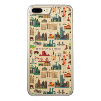Coque Carved iPhone 8 Plus/7 Plus Motif de symboles des Etats-Unis