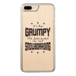 Coque Carved iPhone 8 Plus/7 Plus NE PAS FAIRE DU SURF DES NEIGES GRINCHEUX (noir)
