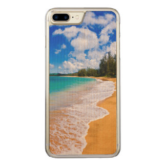 Coque Carved iPhone 8 Plus/7 Plus Paradis tropical de plage, Hawaï