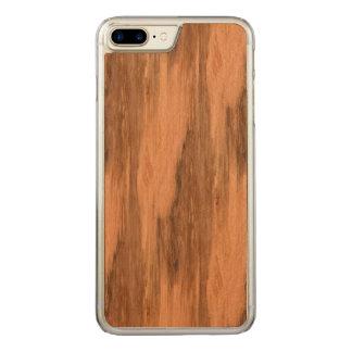 Coque Carved iPhone 8 Plus/7 Plus Regard du bois de grain d'eucalyptus naturel