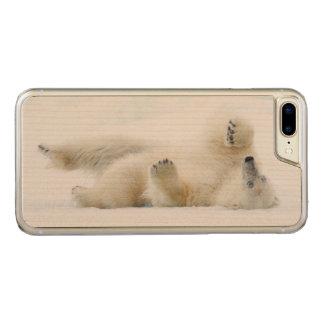 Coque Carved iPhone 8 Plus/7 Plus Roulement d'ours blanc dans la neige, Norvège