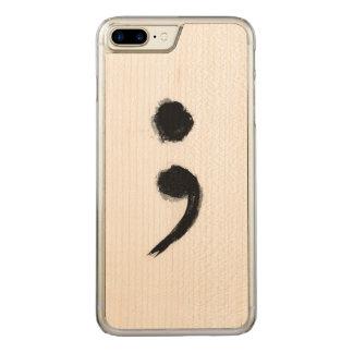 Coque Carved iPhone 8 Plus/7 Plus Téléphone de point-virgule