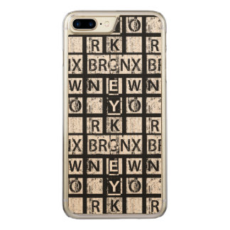 Coque Carved iPhone 8 Plus/7 Plus Typographie grunge de Bronx New York |