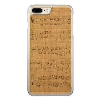Coque Carved iPhone 8 Plus/7 Plus Vieilles notes de musique - feuille de musique