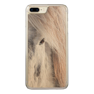 Coque Carved iPhone 8 Plus/7 Plus Visage islandais blanc de cheval, Islande