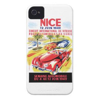 Coque Case-Mate iPhone 4 Affiche de course d'automobile de circuit de 1949
