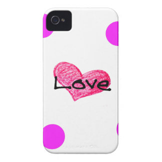 Coque Case-Mate iPhone 4 Anglais de conception d'amour