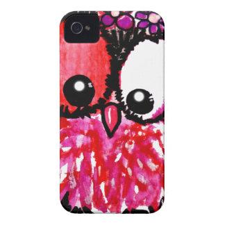 Coque Case-Mate iPhone 4 Art rose de hibou de bébé
