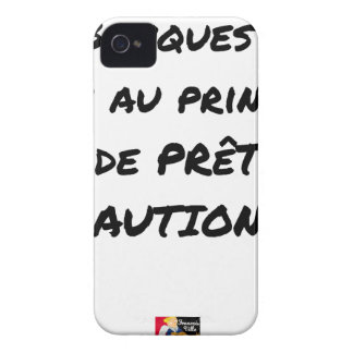 COQUE Case-Mate iPhone 4 BANQUES ? NON AU PRINCIPE DE PRÊT CAUTION