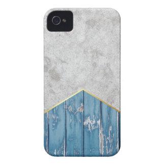 Coque Case-Mate iPhone 4 Bois bleu #347 de flèche concrète