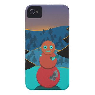 Coque Case-Mate iPhone 4 Bonhomme de neige de Robo