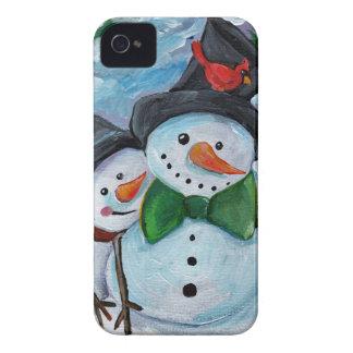 Coque Case-Mate iPhone 4 Bonhommes de neige de visite cardinaux