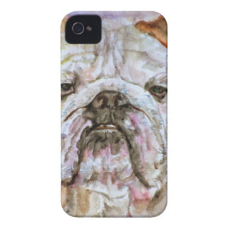 Coque Case-Mate iPhone 4 BOULEDOGUE .1 d'aquarelle