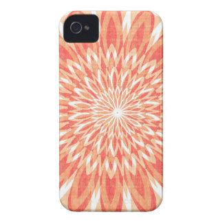 Coque Case-Mate iPhone 4 CADEAUX d'ART de tournesol du charme CHAKRA Sun de