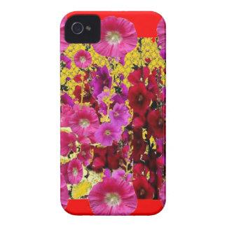 Coque Case-Mate iPhone 4 CADEAUX de JARDIN de ROSES TRÉMIÈRE rouges et