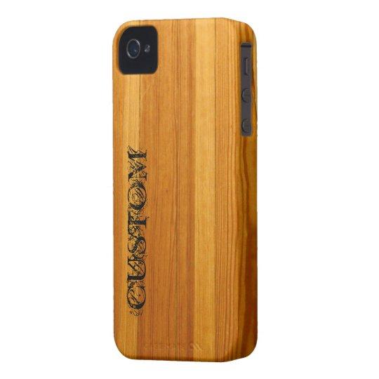 Coque case mate iphone 4 caisse audacieuse de blackberry for Case en bois