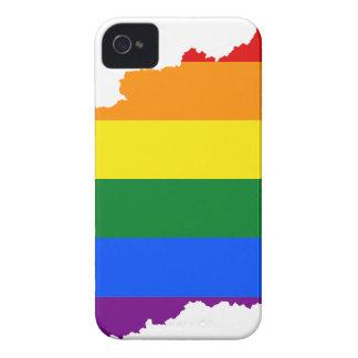 Coque Case-Mate iPhone 4 Carte de drapeau de la Hongrie LGBT
