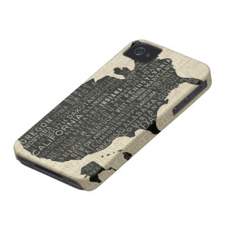 Coque Case-Mate iPhone 4 Carte des Etats-Unis