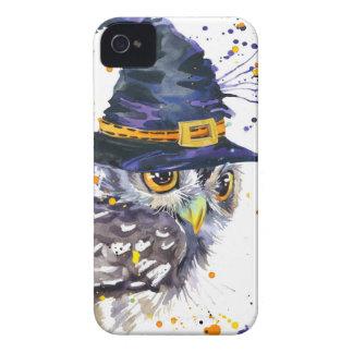 Coque Case-Mate iPhone 4 casquette de port de sorcières de hibou mignon