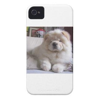 Coque Case-Mate iPhone 4 Chiot blanc de bouffe de bouffe de souffle crème