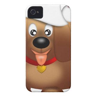 Coque Case-Mate iPhone 4 Chiot mignon avec le casquette rouge de Père Noël