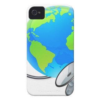 Coque Case-Mate iPhone 4 Concept de santé de globe du monde de la terre de