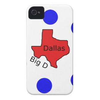 Coque Case-Mate iPhone 4 Conception de ville de Dallas, le Texas (grand D)
