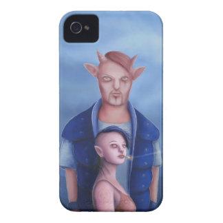Coque Case-Mate iPhone 4 Couples de démon dans la forêt hantée