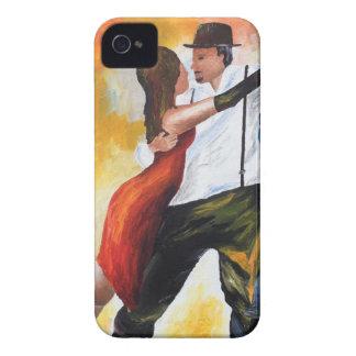 Coque Case-Mate iPhone 4 Danse au rêve coloré d'amants de tango d'aube !