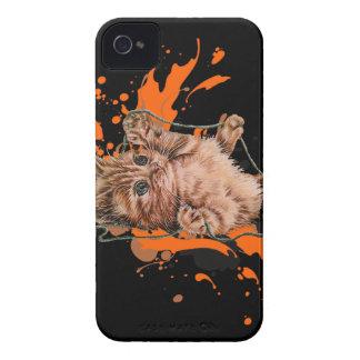 Coque Case-Mate iPhone 4 Dessin de chaton orange et de peinture de chat