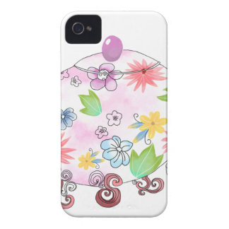 Coque Case-Mate iPhone 4 Dessin fleurissant d'illustration de pot de thé