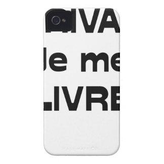 Coque Case-Mate iPhone 4 ÉCRIVAIN, je me LIVRE - Jeux de Mots