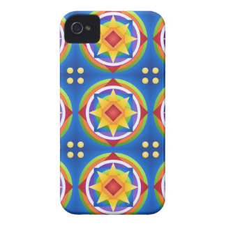 Coque Case-Mate iPhone 4 Édredon de mandala d'arc-en-ciel