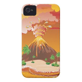 Coque Case-Mate iPhone 4 Éruption de volcan de bande dessinée