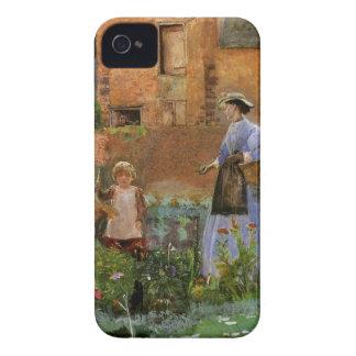 Coque Case-Mate iPhone 4 Famille victorienne, un jardin dans Cookham par