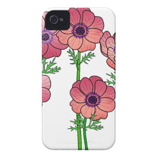 Coque Case-Mate iPhone 4 fleur d'anémone