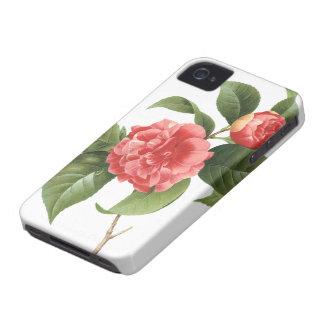 Coque Case-Mate iPhone 4 Fleurs florales et roses vintages de camélia par