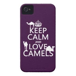 Coque Case-Mate iPhone 4 Gardez le calme et aimez les chameaux (toutes les