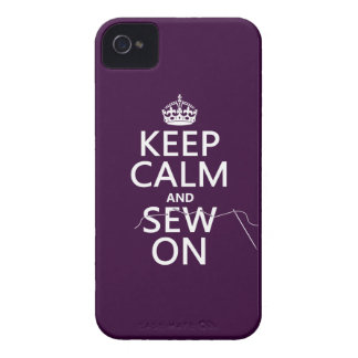 Coque Case-Mate iPhone 4 Gardez le calme et cousez sur (dans toutes les