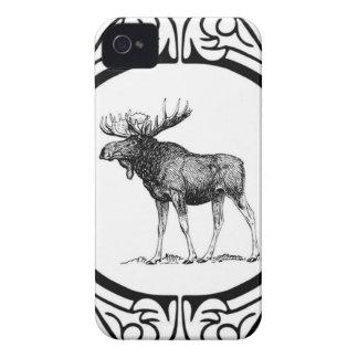 Coque Case-Mate iPhone 4 grand art d'orignaux de taureau