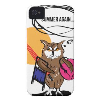 Coque Case-Mate iPhone 4 Hibou qui déteste le T-shirt d'été