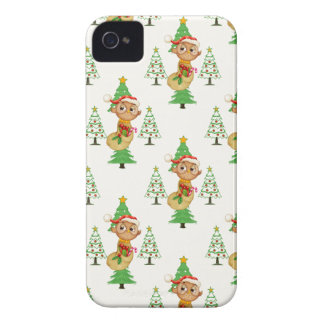 Coque Case-Mate iPhone 4 Hiboux et arbres de Noël
